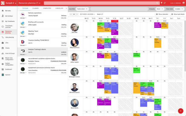 Eurojob - Resources planning module